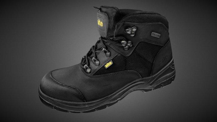 Sitesafe  black safety boot 2018 3D Model