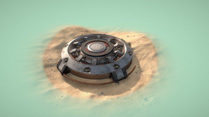 Sci-Fi Explosive Mine 3D Model