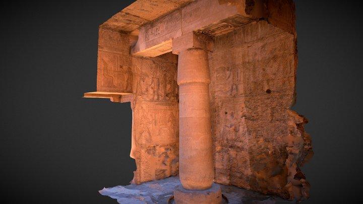 "papyrus columns ""temple of King Seti 1st"" 3D Model"
