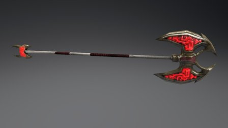Tallonite War Axe 3D Model