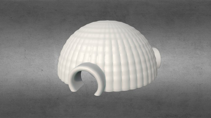 3D CAD Large Inflatable Dome (3D Printable) 3D Model