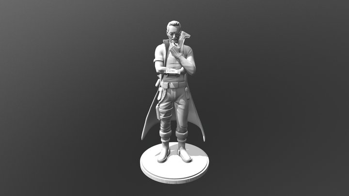 Main Character - Scientist 3D Model