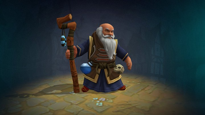 Mage animated character 3D Model