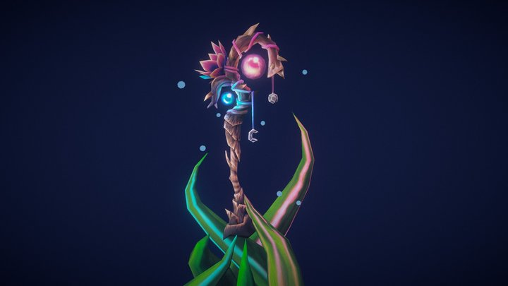 Staff of duality 3D Model