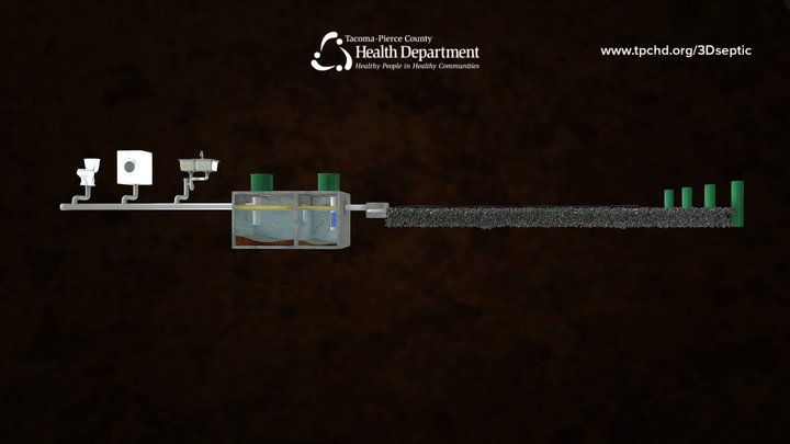 Healthy Gravity Septic System 3D Model