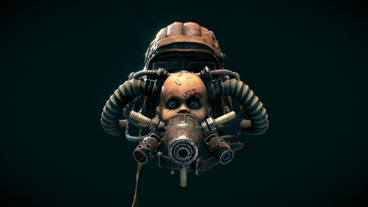 Post-apocalyptic wasteland helmet 3D Model