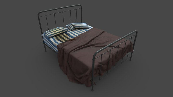 Stained Bed of the Sick 3D Model