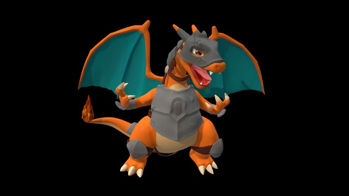 Charizard Armored_3DPrintable 3D Model