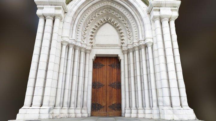 Mediterranean Church Entrance 3D Model