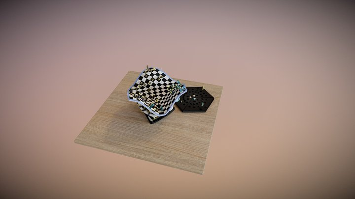 Chess for three of Us 3D Model