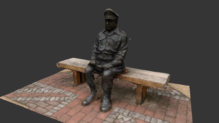 Arthur Lowe Dad's Army Statue / Thurmaston 3D Model