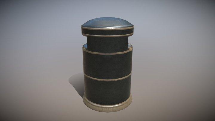 Streetbin Low Poly 3D Model