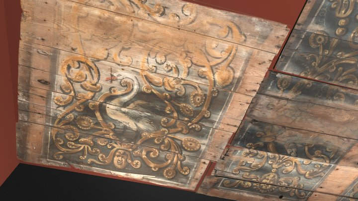Dutch 17th century painted ceiling 3D Model