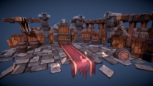Stylized Dungeon Environment 3D Model