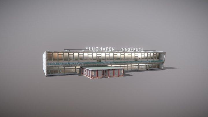 Airport LOWI_Terminal Flughafen Innsbruck 3D Model
