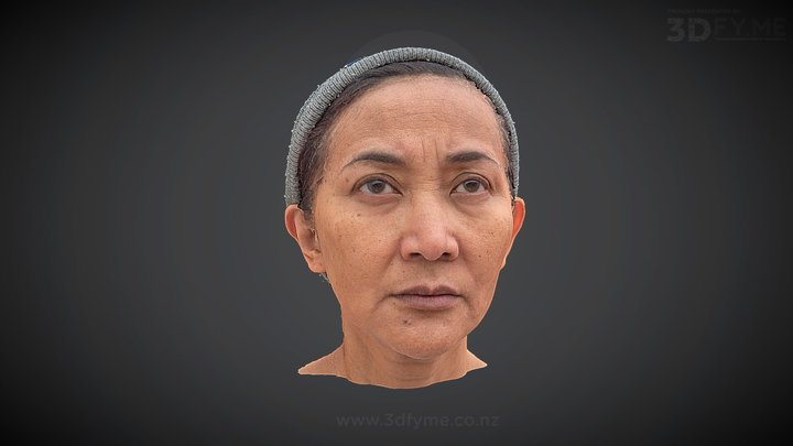 Head Scan (DSLR, 120 pics, not cleaned-up) Mark3 3D Model