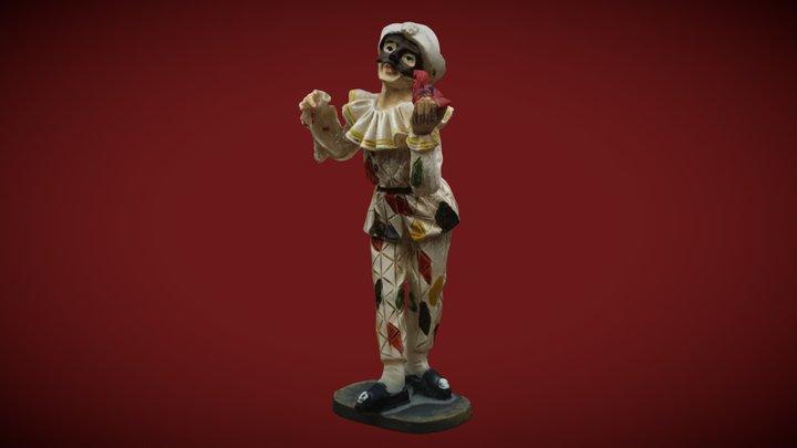 Cheap plastic Harlequin (High: 7,5 cm) 3D Model