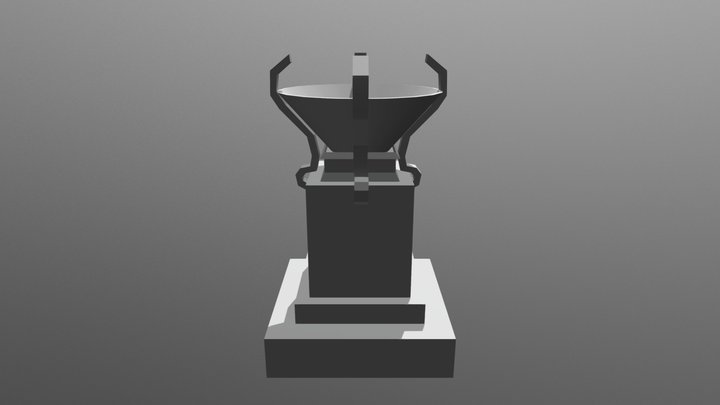 Fire Torch 3D Model