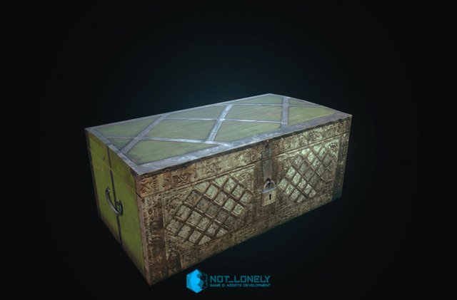Animated Old Chest 3D Model