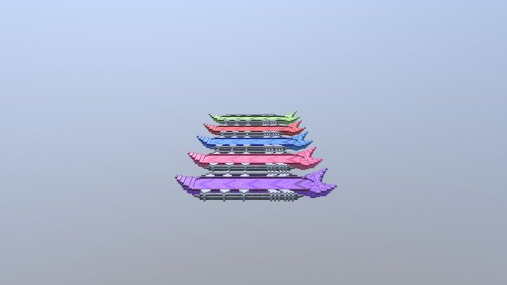 Hoverboard model 3 all-colours 3D Model