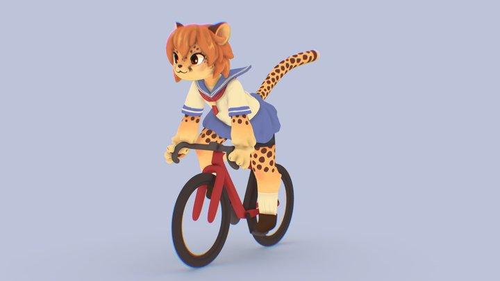 Cheetah 3D model Fanart 3D Model