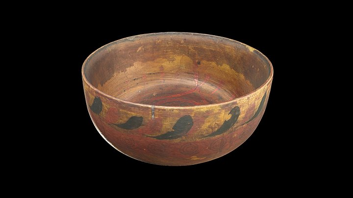 Baltic Ware wooden bowl from Orkney 3D Model