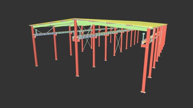 Площадка с навесом 3D Model