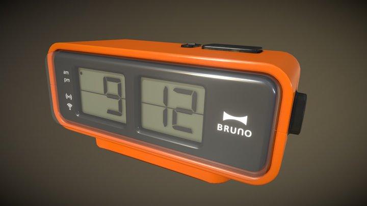 Retro Digital Flip Clock 3D Model