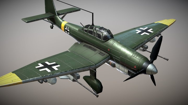 WW2 German Dive-Bomber JU87 Stuka 3D Model