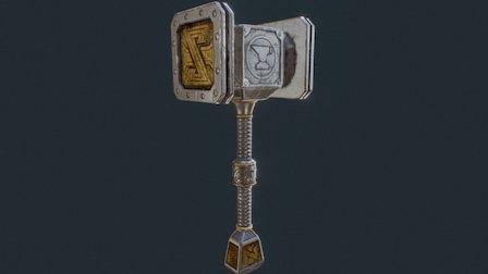 RPG/Fantasy Hammer 3D Model