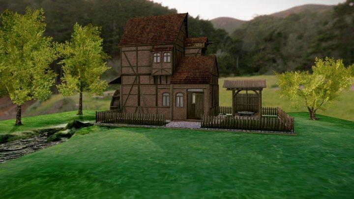 Watermill 3D Model