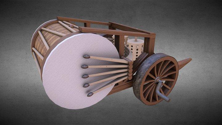 Da Vinci Drum 3D Model