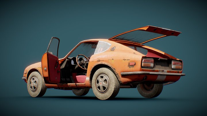 Old Coupe 3D Model
