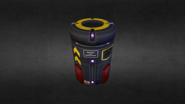 Ammo Barrel 3D Model