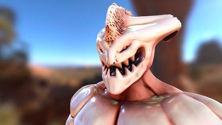 Demon Sketch 3D Model