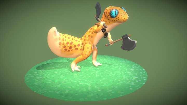 Lizard Raider - Hand Painted 3D Model