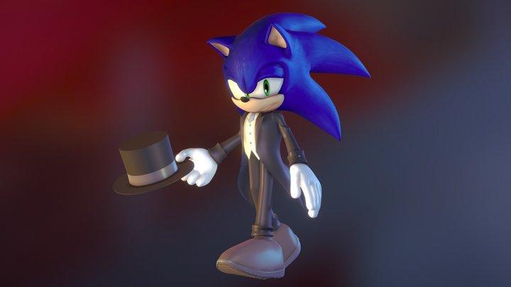 sonic in tuxedo 3D Model