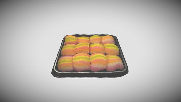 Rainbow Mochi 3D Model