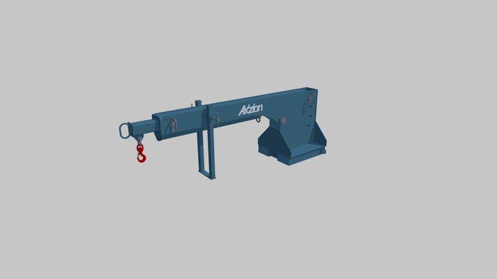 Axzion short crane arm for forklift trucks 3D Model