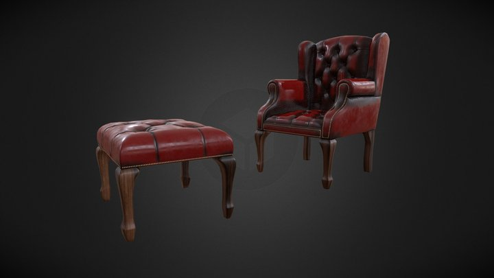 Old classical Chair 3D Model