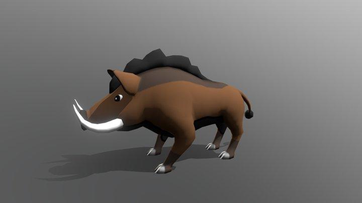 """Low Poly Boar - """"Howard"""" 3D Model"""