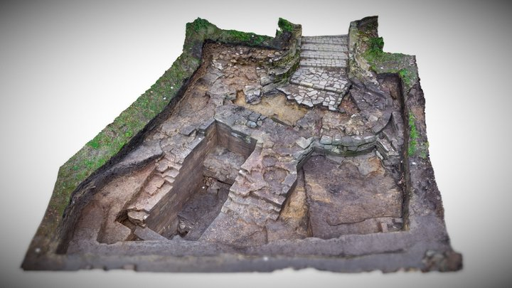Pontefract Castle Gatehouse Project (End of dig) 3D Model