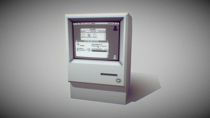 Macintosh Classic II 3D Model