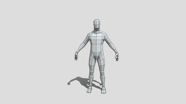 Male Lowpoly Base Mesh 3D Model