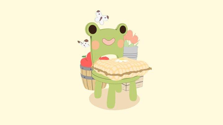 Animal Crossing: New Leaf - Froggy Chair 3D Model