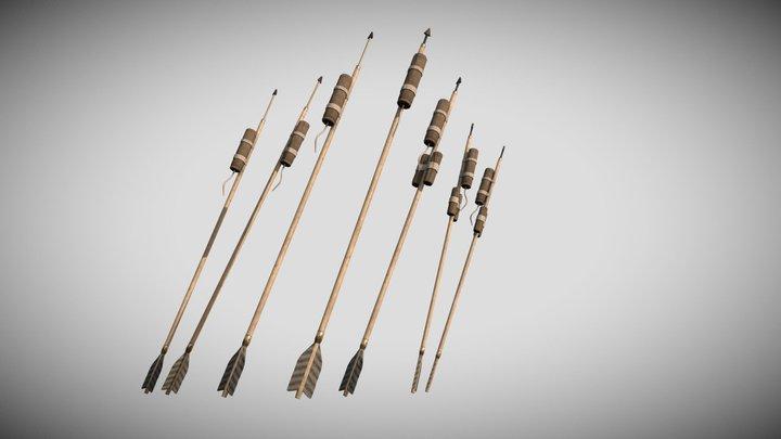 Rocket Fire Arrows 3D Model