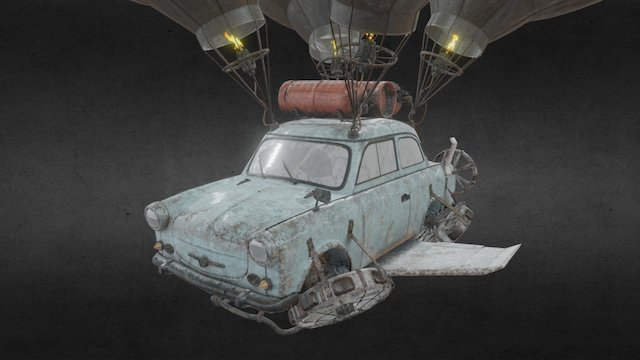 Flying Trabant (Final Takeoff) 3D Model