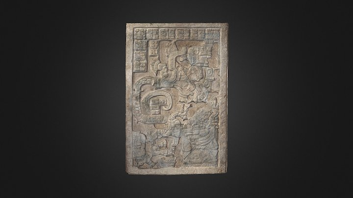 Lintel 25 of Yaxchilán Structure 23 3D Model