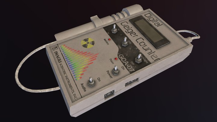 Old Geiger Counter Final 3D Model