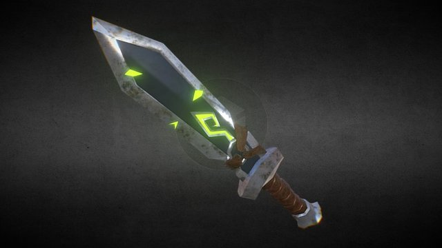 Earth Elemental Sword 3D Model